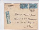 1926 - SENEGAL - ENVELOPPE Par AVION De DAKAR Pour PARIS - SUPERBE AFFRANCHISSEMENT Mais MANQUE RABAT - Lettres & Documents