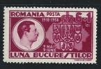 ROMANIA 1938 - UNIONE PROVINCE -  N.° 535 * Serie Compl. - Cat. 1,00 €  - Lotto N. 2048 - 1918-1948 Ferdinand, Charles II & Michael