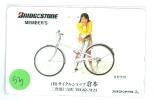 Télécarte JAPON * Cyclisme (53) FIETS * RADFAHREN * VELO FAHRRAD  * FIETSEN * Cycling * Phonecard Japan * BRIDGESTONE - Sport