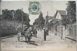 Bellevue Meudon Route Des Gardes Homme Charrette Cheval Publicité Dubonnet Sur Mur Voyagé 1900 Timbre Cachet Quievrain - Meudon
