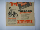 5 ) Solex , Velosolex :  23,5 X 20 Cm :concours  : Rare - Advertising
