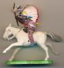 Figurine BRITAINS (Angleterre) : Indien à Cheval, Coiffe, Costume De Guerre, Far-West - Figurines