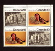 CANADA, 1976, #579i, IROQUOIAN INDIANS: Medallion Missing, UR Blank  BLOCK        MNH - Blocks & Sheetlets