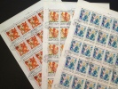 Hungary Magyar Posta 1979 Year Of The Child: Fairy Tales; 3 Sheets Of 25 Stamps (complete Sheets) - Feuilles Complètes Et Multiples