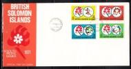 British Solomon Islands 1971 IV South Pacific Games, Soccer, Boxing Etc FDC - Calcio