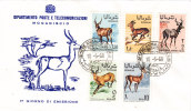Somalia,1968 Wild Antilope Set Of 5 Stamps Compl. Oln Official FDC- Scarce Topical Cover- - Somalia (1960-...)