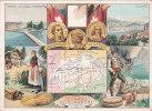 ¤¤  - CHROMO (dim 16 X 11.5)  -  AU BON MARCHE  -  Confédération Hélvétique  - Genève , Lucerne  -  ¤¤ - Vieux Papiers