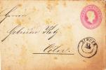 7122# BADE Ganzsachen-Ausschnitt 3 Kr. Rosa Auf Brief  SINGEN Nach CÖLN COELN DEUTSCHLAND ALLEMAGNE ENTIER POSTAL - Baden