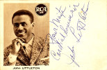 [pch] John Littleton Chanteur Américain Negro-spiritual - Fotos Dedicadas
