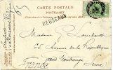 Griffe Linéaire - HERSEAUX, Belgique - Marcophilie (Lettres)