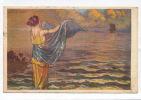 Jolie Carte Fantaisie Femme Face à La Mer  Signée Par MAUZAN - Mauzan, L.A.