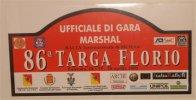 X MAX BIG Adesivo Stiker Etiqueta PLACCA TARGA RALLYE 86 TARGA FLORIO CM. 20 X 39 CAR RACE SEE AUTOMOBILIA - Targhe Rallye
