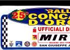 X MAX BIG Adesivo Stiker Etiqueta PLACCA TARGA RALLYE 25 CONCA D'ORO CM. 20 X 40 CAR RACE SEE AUTOMOBILIA CORLEONE - Targhe Rallye