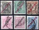 PORTUGAL 1892-93 - Yv.80-85 (Mi.80-85, Sc.81-86) Used (VF) - 1892-1898 : D.Carlos I