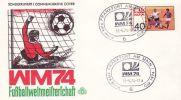 GERMANY 1974 WORLD CUP  POSTMARK - Coppa Del Mondo