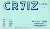 CARTE QSL CARD 1960 RADIOAMATEUR HAM RADIO CR-7 ILE ILHA IBO ISLAND MOZAMBIQUE PORTUGUESE AFRICA PORTUGUAISE - Mozambique