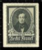 Old Original Swiss Poster Stamp (cinderella, Label, Reklamemarke ) Composer, Felix Mendelssohn - Bartholdy - Célébrités