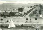 Italy, Riccione, Lungomare Dal Porto, 1957 Used Real Photo Postcard [P9456] - Rimini