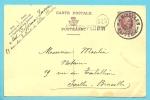 Entier Met Cirkelstempel NIVELLES Met Naamstempel (griffe D´origine) VILLERS-PERWIN (Depots-Relais) - 1922-1927 Houyoux