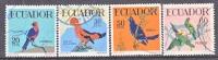 Ecuador 645-8   (o)  FAUNA BIRDS - Ecuador