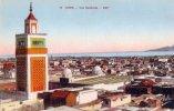 CPA Carte Postale Ancienne AFRIQUE TUNISIE TUNIS Perspective De L´avenue Jules Ferry TBE - Tunisie