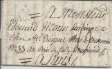 SAONE ET LOIRE - PLI DE MACON DU 20 FEVRIER 1821  ,  EN PORT DU , TAXE A 6 DECIMES ,AVEC MARQUE 70 MACON , POUR PARIS . - Marcophilie (Lettres)