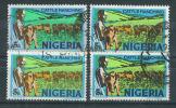 VEND TIMBRES DU NIGERIA N° 284 (B) X 4 NUANCES DIFFERENTES !!!! (a) - Nigeria (1961-...)