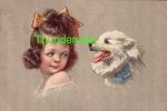 CPA ILLUSTRATEUR ENFANT ENFANTS & CHIEN  ** EXCELSIOR ** ARTIST DRAWN CARD CHILD CHILDREN  & DOG - Enfants