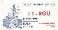 CARTE RADIO QSL - FLORENCE - ITALIE - 1969. - Radio Amateur