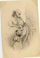 Femme Et Enfant-Style Viennoise-colorisée - Mujeres