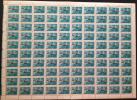 Hungary Magyar Posta 1977: Legiposta (Air Mail): Legibusz A300-B Aircraft; Sheet Of 100 (10x10) Stamps (Michel 3225) - Feuilles Complètes Et Multiples