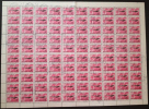 Hungary Magyar Posta 1977: Legiposta (Air Mail): Tupolev Tu-144 Aircraft; Sheet Of 100 (10x10) Stamps (Michel 3227) - Feuilles Complètes Et Multiples