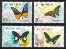 1969 Filippine Farfalle Butterflies Schmetterlinge Papillons Set MNH** B571 - Filippine