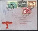 1937  Lettre Avion D'Elisabethville Pour L'Angleterre  COB PA2, PA12, 193, 176 - Congo Belge
