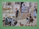 Carte Postale ALSACE  Illustrateur HANSI: Le Depart Pour L'école - Costumi