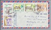 AMERIKA Bermuda 1963-05-14 Mi#173,178,177/176/175 Auf Brief - Bermudes