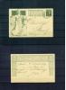 Schweiz / Switzerland 1909 Ganzsache P38 Echt Gelaufen Ersttag 4.10.1909 ?? - Interi Postali