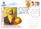 CONSTANTIN ISTRATI, GREAT CHEMIST, 2011, CARD STATIONERY, ENTIER POSTAL, OBLITERATION CONCORDANTE, ROMANIA - Chemistry