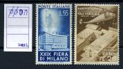 1951 -  Italia - Italy - - Sass.  657/58 - LH - - 1946-60: Nuovi