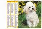"""Almanach Des PTT 1982  """"chien / Petite Fille, Poussin Et Chien"""" OBERTHUR - Calendriers"""