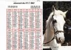 """Almanach Des PTT 1982  """"cheval Blanc / Ramassage Des Pommes"""" Pommiers OLLER - Calendriers"""