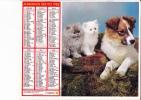 """Almanach Des PTT 1982  """"chien Et Chatons/ Lapin"""" OBERTHUR - Calendriers"""