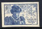 FRANCE NON DENTELE N°743** LOUIS XI JOURNEE DU TIMBRE COTE MAURY: 70 EUROS - France