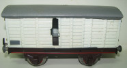 ANCIEN WAGON MARCHANDISE EN TÔLE PEINTE MARQUE PAYA(Espagne) ,FORMAT 0- 1940s..no Marklin-bing-lehmann-JEP- Arnold-Rico - Goods Waggons (wagons)