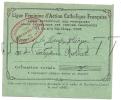 Paris 8ème Arr (75) : Carte De La Ligue Féminine D'Action Catholique Française Secrétariat Central En 1934. - Arrondissement: 08