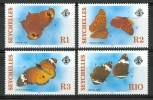 1987 Seychelles Farfalle Butterflies Schmetterlinge Papillons Set MNH** B573 - Seychelles (1976-...)