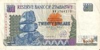 BILLETE DE ZIMBAWE DE 20 DOLARES DEL AÑO 1997 (BANKNOTE-BANK NOTE) - Zimbabwe