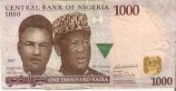 BILLETE DE NIGERIA DE 1000 NAIRA DEL AÑO 2007 (BANKNOTE-BANK NOTE) - Nigeria