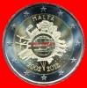 """2 Euros """"10 Ans Euro FIDUCIAIRE"""" Commémorative MALTE 2012, En UNC Neuves Sous Sachet - Malta"""