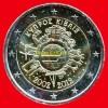 """2 Euros """"10 Ans Euro FIDUCIAIRE"""" Commémorative CHYPRE 2012, En UNC Neuves Sous Sachet - Zypern"""